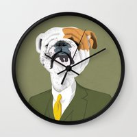 English Bulldog Wall Clock