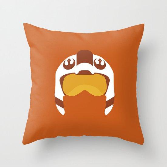 Star Wars Minimalism - Red Five Throw Pillow