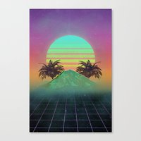 80s love Canvas Print