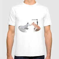 Fox!Mystrade Mens Fitted Tee White SMALL