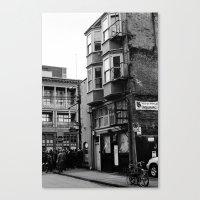 crowded street Canvas Print
