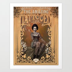 The Amazing Tattooed Lad… Art Print