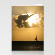 Sailboat Sunset Stationery Cards
