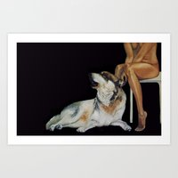 In the company of Wolf Art Print