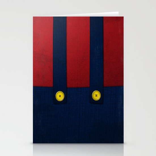 Video Game Poster: Plumber Stationery Card