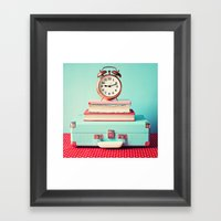 Clock is ticking Framed Art Print