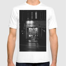 Walking By Guitars Mens Fitted Tee SMALL White