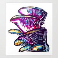 Mushing Rooms Art Print