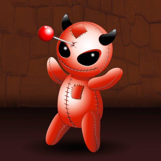 Voodoo Doll Evil Devil Cartoon Art Print