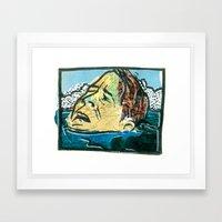 Not Waving Drowning Framed Art Print