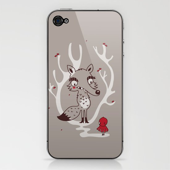 Hello big wolf iPhone & iPod Skin