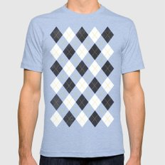 Argyle Mens Fitted Tee Tri-Blue SMALL