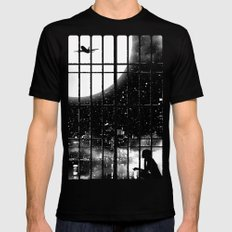 All Alone Mens Fitted Tee Black SMALL