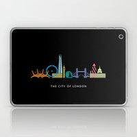 London Skyline Black Laptop & iPad Skin