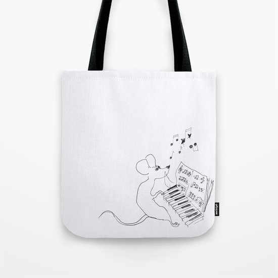 mouse pianist Tote Bag