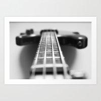 The Bass Guitar, Musical Instruments Art Print