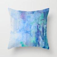 Watercolor Blue Throw Pillow