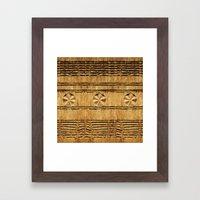 African decoration on wood Framed Art Print