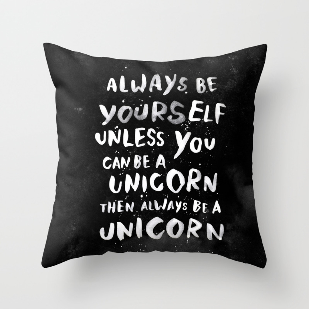 Throw Pillow Covers Society6 : Black-white Throw Pillows Page 4 of 100 Society6
