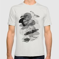 rock balancing Mens Fitted Tee Silver SMALL