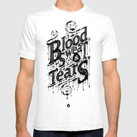 Blood, Sweat, & Tears Mens Fitted Tee White SMALL