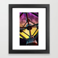 Atomium In Space Framed Art Print