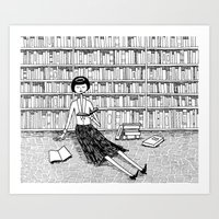 She Just Wanted To Read … Art Print