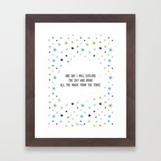 One day I will Framed Art Print