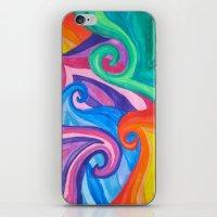 Colorful Swirls iPhone & iPod Skin