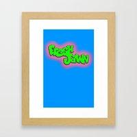Fresh Jawn Framed Art Print