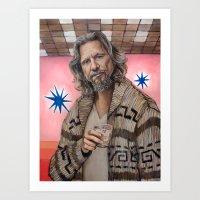 The Dude / The Big Lebowski / Jeff Bridges Art Print