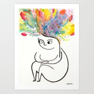 Art Print featuring Inside And Out by Rubyetc