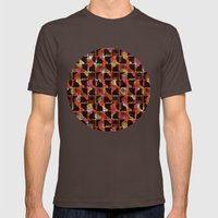 Scribble (mixed) Mens Fitted Tee Brown SMALL