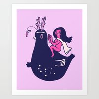 Planet Princess Art Print