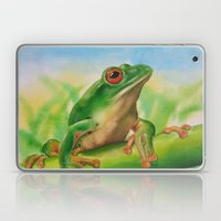 Green Treefrog Laptop & iPad Skin