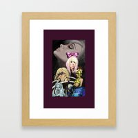 Mother Monster Purple border  Framed Art Print