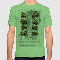 bees Mens Fitted Tee Grass SMALL
