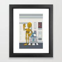 EP4 : C3PO & R2D2 Framed Art Print