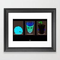 Minimalist Aqua Teen Hun… Framed Art Print