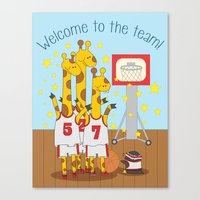 Welcome to the team - fun, colorful, children's illustration Canvas Print
