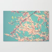 I Love Spring Canvas Print