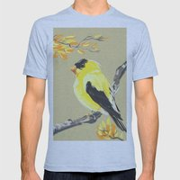 Yellow Finch Mens Fitted Tee Athletic Blue SMALL