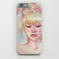 iPhone & iPod Case featuring Watercolors and Floral Crowns by Danielle Feigenbaum