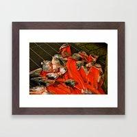 Fish heads Framed Art Print