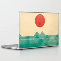 pop art Laptop & iPad Skins featuring The ocean, the sea, the wave by Picomodi