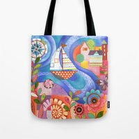 Summer Harbor Tote Bag