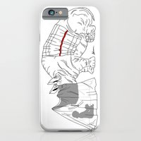 iPhone Cases featuring Danger Kids: Reading Rhino by The Marvelous A