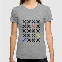Minimalism 3 Womens Fitted Tee Tri-Grey SMALL