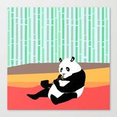 Panda loves Noodles Canvas Print