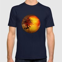 Visions of fire Mens Fitted Tee Navy SMALL